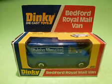 DINKY TOYS 410 BEDFORD ROYAL MAIL VAN - JOHN MANZIES - RARE SELTEN - GOOD IN BOX