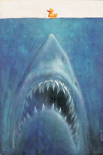 Sebastian Kruger - Sharky with Duck - Jaws - Signed Poster