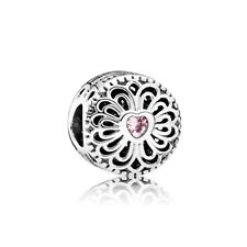 Authentic Pandora Love & Friendship Pink Charm 791955PCZ #m