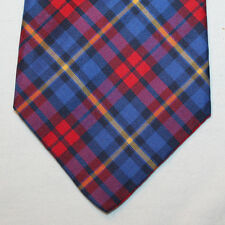 NEW Gap Silk Neck Tie with Blue, Red and Yellow Classic Plaids 1535