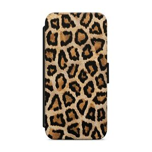 Leopard Print Animal WALLET FLIP PHONE CASE COVER FOR iPhone Samsung Huawei  159