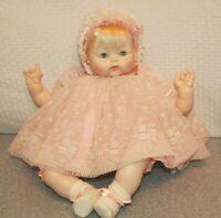"""Madame Alexander Kitten 2002 18"""" Tagged Dress, Bonnet, Shoes New Crier"""