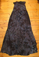 SEWRED tie dye high waisted maxi side slit skirt NEW bohemian gypsy XS new