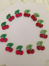 DRESS IT UP Sew Cute Cherries summer fruit  Novelty Buttons