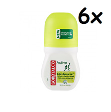 6x Borotalco Roberts Active Zeder und Limette deo roll-on 50ml deoroller