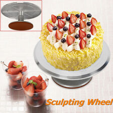 12'' Cake Turntable Platform Decorating Stand Rotating Spiner Sculpting Wheel