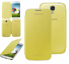 Véritable Samsung Galaxy S4 étui Rabattable étui officiel Coque - Jaune Neuf