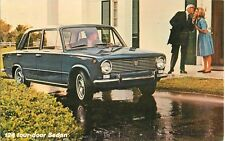 1969 Fiat 124 Four Door Sedan Dealer Advertising Postcard