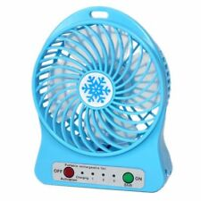 (BLUE) USB Mini Fan Rechargeable for home/ office desk, car, camping
