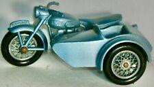 Vintage Matchbox #4-C Blue Triumph T110 Motorcycle & Sidecar Made N England 1960