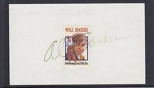 Al Franken, Comedian, US Senator from Minnesota, signed 3x5 card with stamp