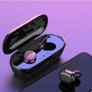 TWS Wireless Bluetooth 5.0 Fingerprint Touch Earbuds Built-in Mic Super Bass Ste