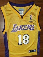 Rare Reebok NBA Los Angeles Lakers Sasha Vujacic Basketball Jersey youth size 8