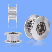 2pc 20T ∅5mm Timing Belt Aluminum Drive Pulley Wheel With Bearing for 3D Printer