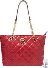 Michael Kors Tasche/Bag Fulton Quilt LG EW Tote Dark Red NEU!