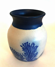 The Elements Pottery Tobacco Tree Vase Cobalt Blue Design 4 inches Tall Signed