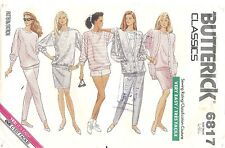 Vintage Butterick Sewing Pattern # 6817 Jacket Top Shorts Pants Skirt Size L-XL