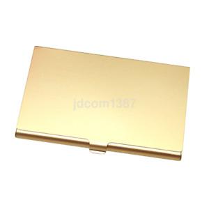 Practical Pocket Business Name Credit ID Card Case Metal Box Holder Aluminum J