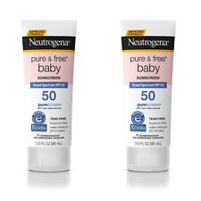 Neutrogena Pure & Free Baby Mineral Sunscreen BroadSpectrum SPF 50 3oz Pack of 2