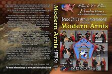 All 5 Bruce Chiu Modern Arnis Instructional Dvds