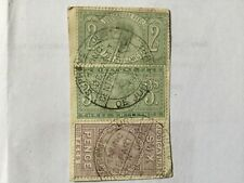 GB UK REVENUE QV Judicature Fee 6 Pence & 2, 3 Shilling on Paper Fiscal cancel