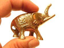 1.5 inch brass ELEPHANT figurine  Good Luck BB3C618
