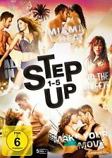 Step Up 1+2+3+4+5 - (Miami Heat / All In / To The Streets) # 5-DVD-BOX-NEU
