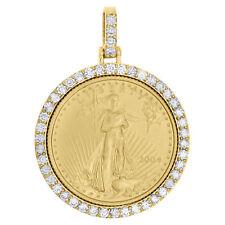 1987 24 Karat Gold American Eagle Pendant 1/4oz. Gold Coin Plus 14kt Rope Bezel