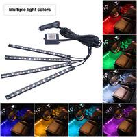 4x Auto RGB LED Atmosphäre Lampe Innenbeleuchtung Lichtleiste Fußraumbeleuchtung