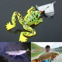 1pc Assorted Fishing Lures Bass CrankBaits Frog Soft Tackle Bait Hooks MO