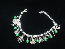 Scottish Celtic charm bracelet. Unicorn. Thistle. Triquetra. 31