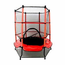 """NEW! 55"""" Kids Trampoline with Safety Net Enclosure & Red Cover Garden Outdoors"""