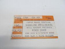 1989 RINGO STARR CONCERT TICKET SHORELINE AMPHITHEATRE
