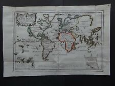1702 De FER Atlas WORLD map Mappe-Monde ou Carte Universelle  California Island