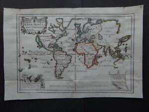 1702 De FER Atlas WORLD map Mappe-Monde ou Carte Universelle  California Island