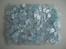 Baby blue pastel buttons mixed smaller sizes 100 grams