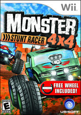 Monster 4X4 Stunt Racer With Wheel WII New Nintendo Wii