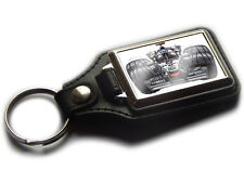 FORMULA 1 KIMI RAIKKONEN F1 Race Car Koolart Quality Leather and Chrome Keyring