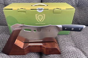 Dalstrong Gladiator Series R Obliterator Meat Cleaver & Stand W/Box Retail $240