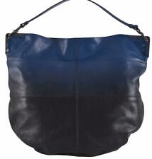 NEW Bottega Veneta $3,600 Blue Black Ombre Leather Large Hobo Purse Handbag