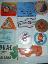ORIGINAL 1930s-60s AIRLINE LABELS-BOAC TWA QANTAS LUFTHANSA etc + NEW ADDITIONS