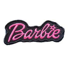 Black & Pink Barbie Logo Iron On patch Sew On transfer logo Badge - Brand New
