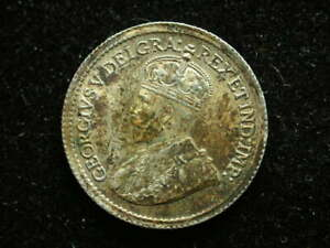 Canada 1920 5 Cents Silver King George