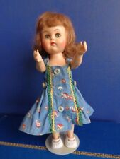 "Vintage 10"" Hard Plastic Walker Doll- Plastic Molded Arts Co- Mid Century"