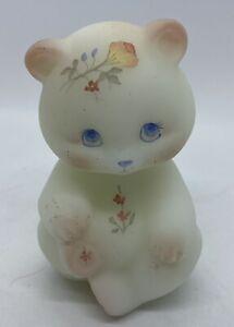 Fenton Hand Painted Satin Bear