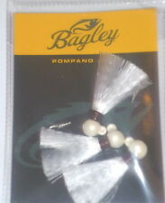 Bagley 1/8 Pompano Saltwater Jigs (White-3 per pack)