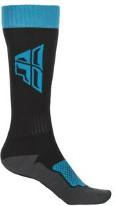 Fly Racing Youth Mx Sock Thick Black/Blue/Grey