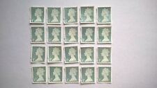 20 UNFRANKED FIRST CLASS SECURITY STAMPS (OFF PAPER - NO GUM)