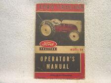 Ford Tractor Model 8N 8 N operator manual original 1952