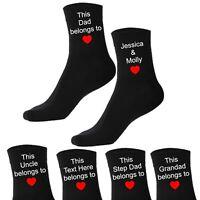 Men's Personalised Custom Socks Gift This Daddy Belongs To Dad Grandad Gift